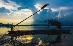 Redes de mergulho quadradas da pesca Imagem de Stock Royalty Free