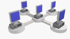 Redes de ordenadores Foto de archivo libre de regalías