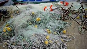Redes de pesca video estoque