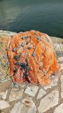 Redes de pesca Imagen de archivo libre de regalías