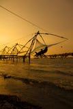 Redes de pesca chinesas. fotografia de stock royalty free