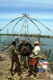 Redes de pesca chinesas fotografia de stock