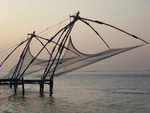 Redes de pesca chinesas - Kerala Fotografia de Stock