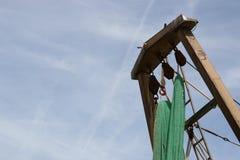 Redes de pesca colgantes Imagen de archivo libre de regalías