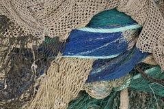 Redes de pesca com flutuador cinzento e uma corrente fotografia de stock