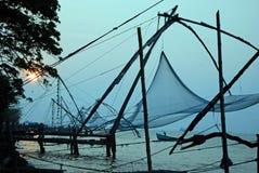 Redes de pesca de Cochin Imagem de Stock Royalty Free
