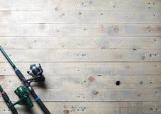 Redes de pesca e ainda-vida da vara de pesca Imagem de Stock