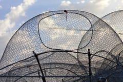 Redes de pesca em Abu Dhabi, UAE fotografia de stock
