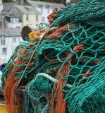Redes de pesca em Cornualha Imagens de Stock Royalty Free
