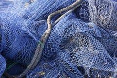 Redes de pesca em Mallorca Fotografia de Stock