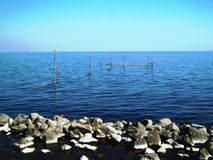 Redes de pesca, Holanda, os Países Baixos Foto de Stock Royalty Free