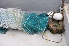 Redes de pesca modernas fotografia de stock royalty free