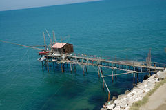 Redes de pesca no mar de adriático Foto de Stock Royalty Free