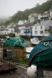 Redes de pesca no porto Fotografia de Stock Royalty Free