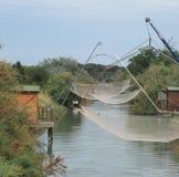 Redes de pesca tradicionales Foto de archivo