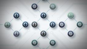 Redes del azul Lite de la gente ilustración del vector