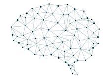 Redes del cerebro stock de ilustración