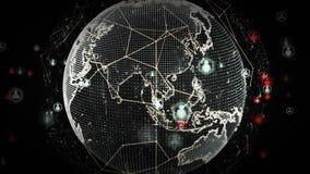 Redes del mundo de Digitaces del platino de la gente ilustración del vector