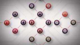Redes del rojo Lite de la gente stock de ilustración