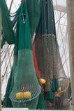 Redes do camarão com flutuadores Foto de Stock