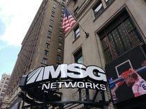 Redes dos MSG, canal americano dos esportes, NYC, EUA Imagens de Stock