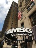 Redes dos MSG, canal americano dos esportes, NYC, EUA Imagens de Stock Royalty Free