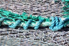 Redes e corda de pesca Foto de Stock