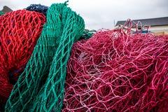Redes e flutuadores de pesca Foto de Stock