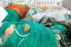 Redes e flutuadores de pesca Imagens de Stock