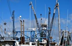 Redes em barcos de pesca comercial Imagem de Stock Royalty Free
