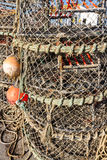 Redes empilhadas da lagosta Fotografia de Stock Royalty Free