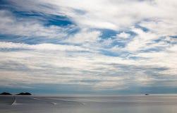 Redes en el mar abierto imagen de archivo libre de regalías