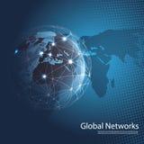 Redes globais foto de stock
