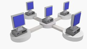Redes informáticas Foto de Stock Royalty Free