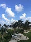 Redes pela praia em México fotos de stock royalty free