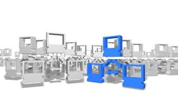 Redes pequenas múltiplas - uma rede grande Fotografia de Stock