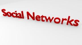 Redes sociais Fotografia de Stock Royalty Free