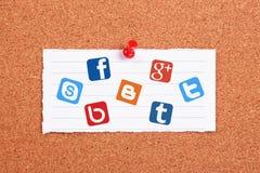 Redes sociais Foto de Stock Royalty Free