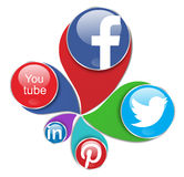 Redes sociais Fotografia de Stock