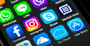 Redes sociais Imagens de Stock Royalty Free