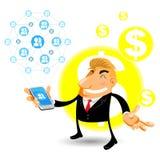 Redes sociais móveis Imagem de Stock Royalty Free