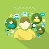 Redes sociales libre illustration