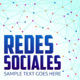 Redes Sociales, Social Networks spanish text Royalty Free Stock Photography