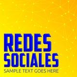 Redes Sociales, texto social del español de las redes stock de ilustración