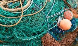 Redes y flotadores de pesca Imagen de archivo libre de regalías