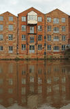 Redeveloped flats along the River Aire, Leeds, England Royalty Free Stock Images