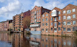 Redevelopment Alongside the Rive Aire, Leeds Yorkshire Royalty Free Stock Image