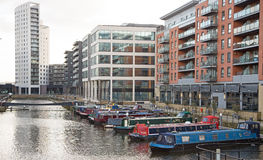 Redevelopment Alongside the Rive Aire, Leeds Yorkshire Stock Images