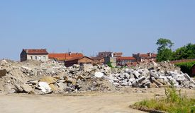 Redevelopment area in paris suburbs Royalty Free Stock Photo