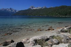 Redfish Lake with Mount Heyburn and the Grand Mogul Royalty Free Stock Image